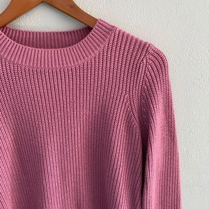 Neumann Marcus Pink Ribbed Sweater